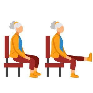 Extensiones de rodilla - Ejercicios para personas mayores